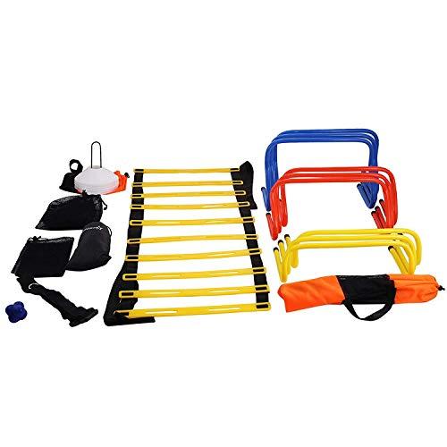 Morffa Fußballmannequins Fußball Trainingsgeräte Ziele Kombinationsset Agility Speed Training Kit Trainings und Fitness Fußballtraining Kit mit Tragetasche für Junior und Senior Training