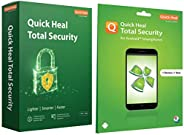 Quick Heal Total Security (1 PC, 1 Year)+Total Security for Android (1 User 1 Year)