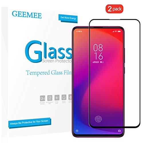 GEEMEE Pellicola Protettiva per Xiaomi Mi 9T PRO/Redmi K20 PRO/Xiaomi 9T/Redmi K20,2 Pack Durezza 9H Copertura Completa Protezione Schermo Vetro Temperato, Anti Graffi Screen Protector Film(Nero)