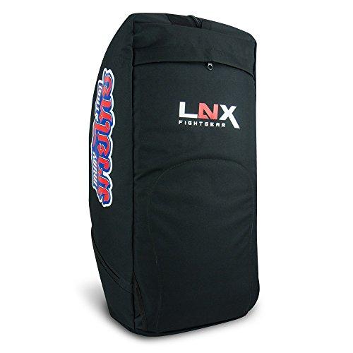 """LNX Rucksacktasche 2in1 """"Muay Thai"""" - Thaibox Tasche Rucksack Schwarz"""