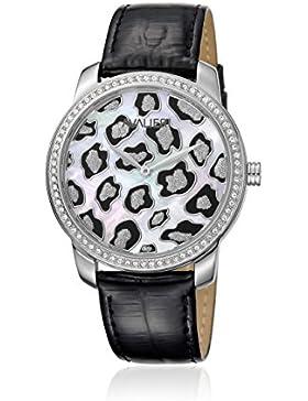 AVALIERI av1l073l0014_ whitemop-37–Uhr für Frauen, Lederband schwarz