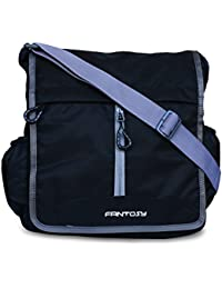 Fantosy Men Black Polyester Sidebag
