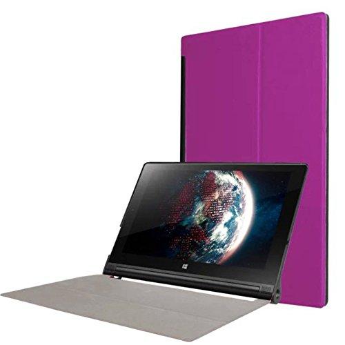 WiTa-Store Tasche für Lenovo Yoga Tab 3 10 YT3-X50 F L 10.1 Zoll Schutz Hülle Flip Tablet Cover Case (Lila)