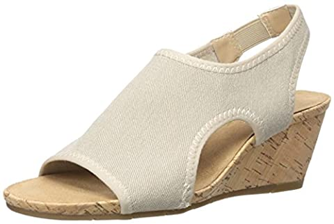 A2 by Aerosoles Women's Coffee Cake Wedge Sandal, Natural Fabric,