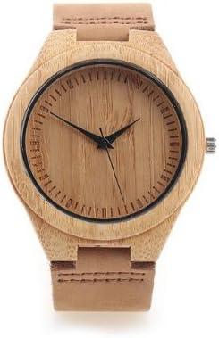 Ollivan® Reloj de Pulsera Hermoso y Moda para Hombre, Reloj de Madera y Bambú Ligero el Tiempo Más Certero y es Buen Regalo