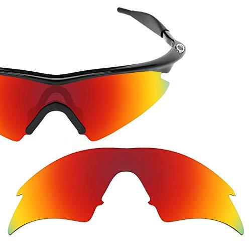 sunglasses restorer Kompatibel Ersatzgläser für Oakley M-Frame Sweep (Fire, Polarisierte)