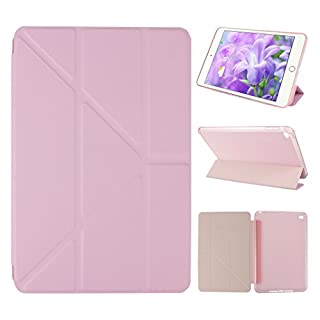 Asnlove iPad Mini 4 Case Ultra SliM Lightweight Soft TPU Back Cover PU Leather Protector With Stand Auto Wake/Sleep SMart-shell(Rose Gold)