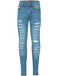 64ff644d1b3a7 A2Z 4 Kids Kids Girls Skinny Jeans Designer's Denim Ripped Fashion Stretchy  Jeggings Pants Stylish Light