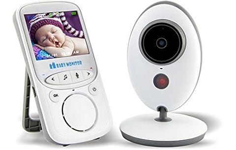 Joyeer Wireless LCD Audio Video Baby Monitor Radio Nanny Musik Intercom IR Nachtansicht 24h Portable Kamera Talkie Temperaturanzeige Säugling Babysitter