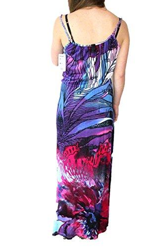 Desigual Sahara - Robe - Taille empire - Imprimé - Sans manche - Femme Bleu/violet