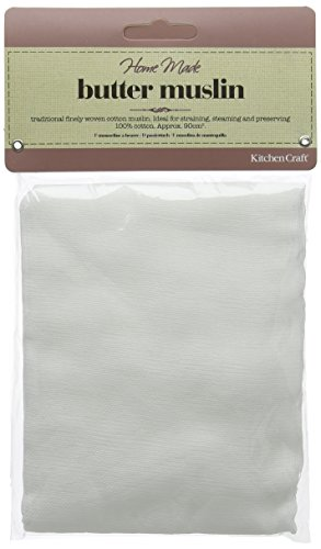 KitchenCraft Home Made Butter Muslin - White