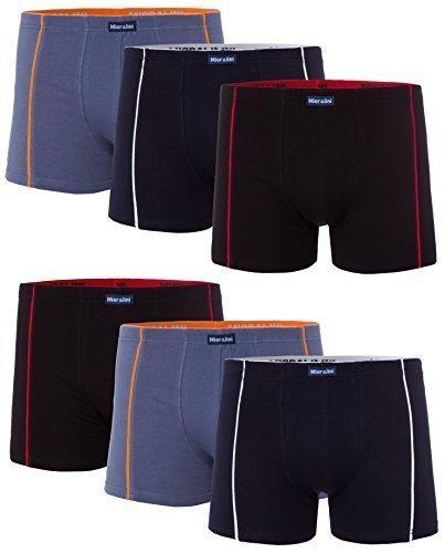 MioRalini 6 PREISWERTE softe weiche und bedruckte Elastische Boxershort Herren - Pants (Grösse XL-7 - 6 MR Pants 01 ) (Elastische Herren-pants)