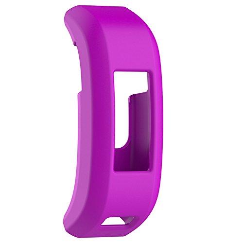 Silikon Protector Sleeve Fitness Band Uhrenarmband Ersatz Cover Smart Case für Garmin Vivosmart HR/HR + GPS Smart Watch, Herren, violett (Cover Sleeve)
