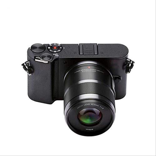 Mode spiegellose Digitalkamera Prime Zoom Dual Lens LCD Minimalismus Raw 20mp Video Recorder 720rgb Internationale Version 42,5 mm Objektiv schwarzschwarz -