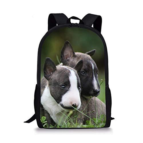 GuiSoHn Unisex Cute Dog Bull Terrier French Bulldog Gedruckt Rucksack Jungen Mädchen Lässig Schultasche Kinder Backpack