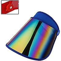 Zenyoumei Sombrero de protección Solar para la Cabeza con Diadema, Gorra de protección Solar de Verano para Mujer para Senderismo, Golf, Tenis al Aire Libre. (Blue)