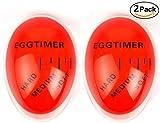 Egg Timer Color Changing, Bidear Termometro di Forma di Uovo con Colore Cambia, Indicatore per Uova Perfetta Bollite Orange (2 Pezzi)