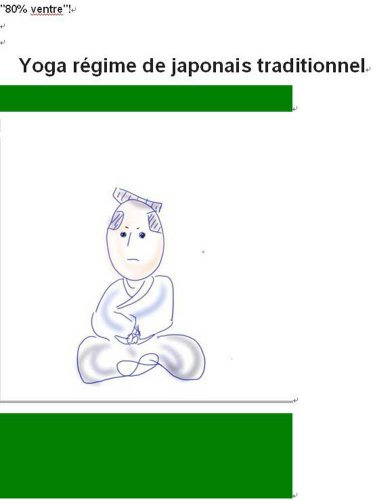 Yoga régime de japonais traditionnel par forest side