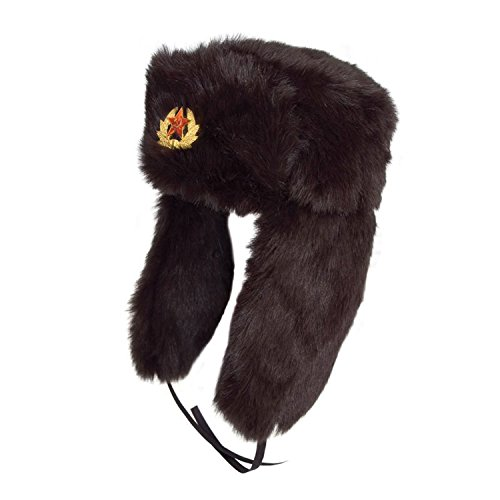 GIZZY(R) Unisex Winter Faux Fur Russian Style Ushanka Trapper Hat
