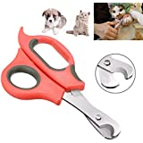 Sage Square Pet Paw Scissor Nail Cutter Cum Clipper for Pets for Dog/Cat/Puppy/Kitten (Red)