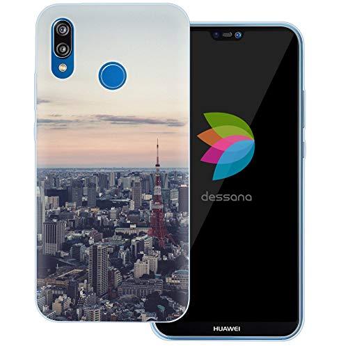 dessana Tokio Downtown transparente Schutzhülle Handy Case Cover Tasche für Huawei P20 Lite Skyline Tokyo