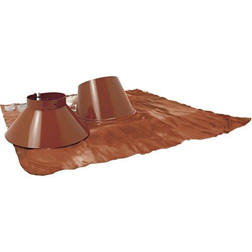 Solin 5 à 30 INOX + collet diamètre 80/125mm pour BIOTEN LAQUE BRUN RAL 8023 Réf 471483