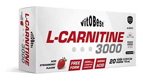 L-CARNITINE 3000-20 Viales 10 ml FRESA ACIDA - Suplementos