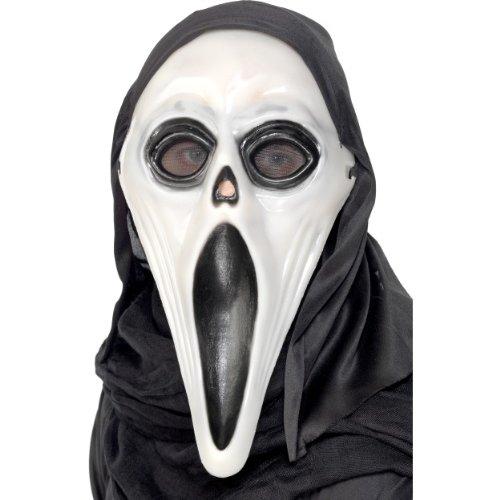Kostüm Screamers - Smiffys Halloween Zubehör Maske Screamer nachtleuchtend schwarz weiß Horror