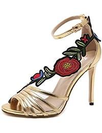 Sandalias de Tacón Alto de Mujer Sandalias Decorativas de Verano DE 10.5cm