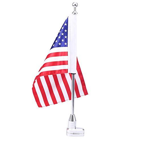 Funihut Soporte para Equipaje de mástil de Bandera de Bandera Americano de Bicicleta de Moto Poste de Moto de Bandera Americano para Honda