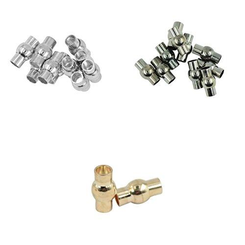 MagiDeal 30 Stk. Magnet Verschlüsse DIY Schmuck Basteln Haken für Halsketten, Armbänder
