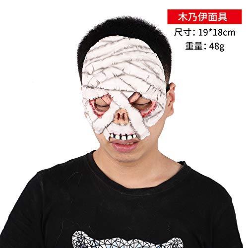 Mumie Tanz Kostüm - DY Halloween Maske Horror Kostüm Tanz Dämon Gas Maske Zombie Untote Latex Kopf Set Party Kultur P0300700482 Mumie Maske (70-1-12)