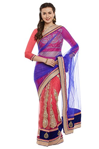 Chhabra 555 Pink Net Emroidered Lehenga Saree.  available at amazon for Rs.2520
