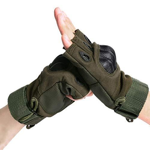 BeiLan Outdoor Handschuhe Herren Trainings Motorradhandschuhe Kletterhandschuhe Fingerlose Gloves Handschuhe zum Wander Klettern Motorrad Fahrrad Radsport Arbeiten(L)