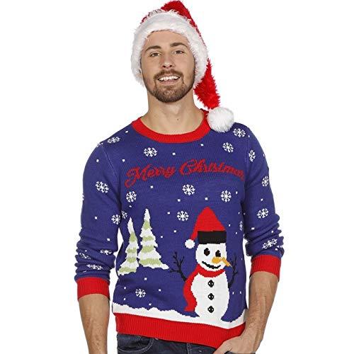 Weihnachtspullover Schneemann Ugly Christmas Sweater Pullover Weihnachten S-XXL
