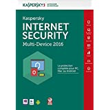 Kaspersky Internet Security  Multi-Devices 2016 - Monoposte - 1 ann [Téléchargement PC/Mac/Android]
