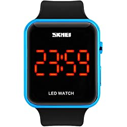 Unisex Simple Disign LED Digital Watch for Men, Women Blue