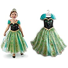 NICE SPORT Robes Enfant Princesse Anna La Reine des Neiges Cosplay Costume  Déguisement Cadeau Anniversaire  45d270f64d02