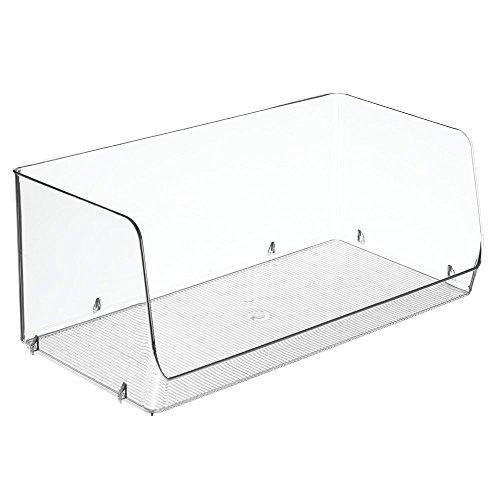 InterDesign 66370EU Benne Empilable Grand Plastique 19,3 x 38,6 x 15,7 cm