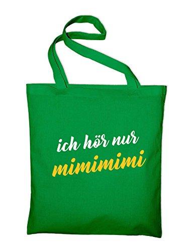 Ich Höre Nur Mimimi Fun Jutebeutel Grün