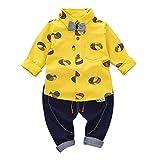 Babykleidung,Shopaholic0709 Strampler Spielanzug Baumwolle Langarm (12M-3T) XET Ballon Kinder Langarm Ballon Print Bow Top + Hosen Zweiteiler