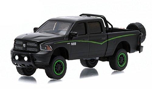 2014 Dodge Ram 1500 Pickup Truck Custom Black All Terrain Series 1 1/64 by Greenlight 35010 F by Dodge
