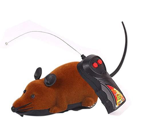 AMOYER Ratte Spielzeug, RC Lustige drahtlose elektronische Fernbedienung Maus Ratte Haustier-Spielzeug für Hunde Katzen Haustiere Kinder-Neuheit-Geschenk