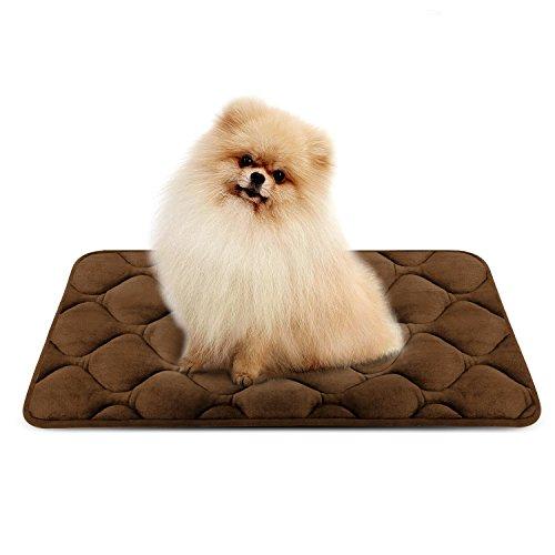 Weiche Hundebett für Kleine Hunde Luxuriöse Hundedecken Waschbar Orthopädisch Liekissen Rutschfeste Hundematte Braun S von HeroDog