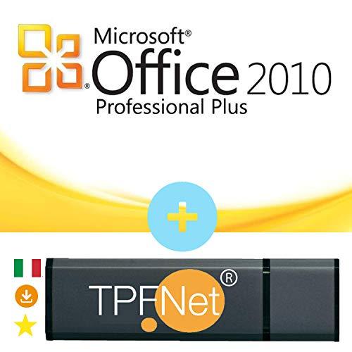 MS Office 2010 Professional Plus 32 bit & 64 bit - Licenza Originale con una Chiavetta USB di TPFNet