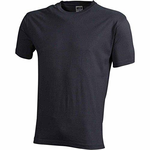 JAMES & NICHOLSON Herren T-Shirt, Einfarbig Grau - Gris carbone