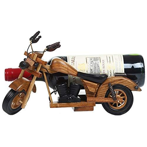 DUDDP Weinflaschenhalter Wandregal Vintage Motorrad Weinregale Holz für Tisch |Weinflaschenhalter |Rustikaler Weinhalter für Weinkühler Weinschrank |Weinregal-Speicher-Organisator |Weinstand -