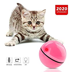 Cat Toys Balls Interactive Automatic Self Rotating Rolling Balls for Cat Toys Rechargeable LED light Entertainment Cat Balls Pet Exercise Balls For Kitten Puppy (Newest Version)