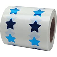 Star Stickers, 13 mm 1/2 Inch Wide, 1000 Labels on a Roll