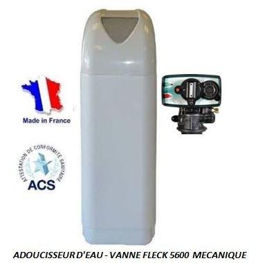 Adoucisseur d'eau 30L Fleck 4600 MV eau chaude